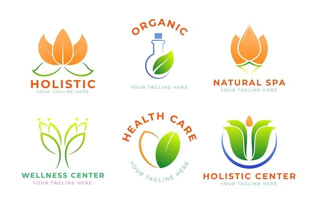 Gradient holistische logo-set