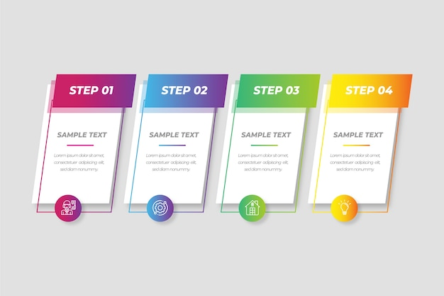 Gradient infographic collectie concept
