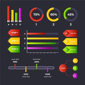 Gradient infographic collectie