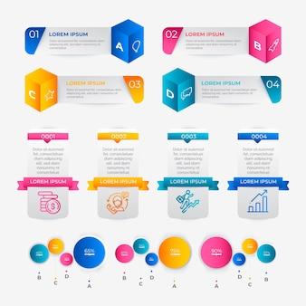 Gradiënt infographic elementen