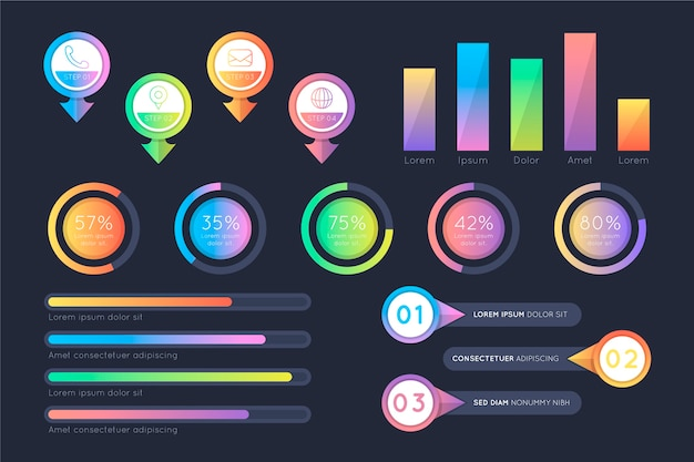 Gradiënt infographic evolutie concept