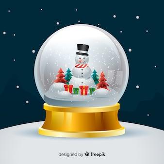 Gradient kerstmis sneeuwbal globe achtergrond