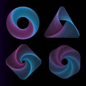 Gradient line art graphics