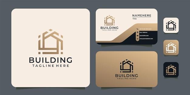 Gradiënt luxe gebouw
