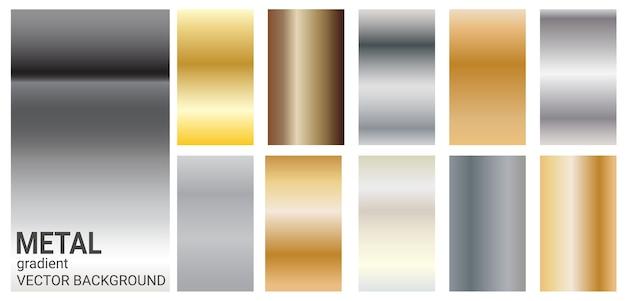 Gradient metalen kleur thema vector sjabloon achtergrond.