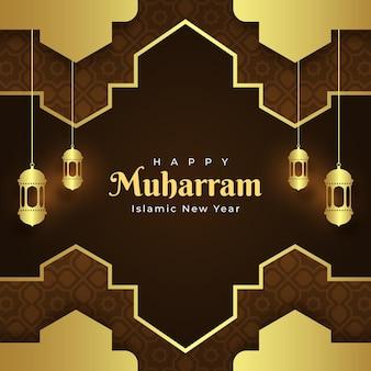 Gradiënt muharram illustratie