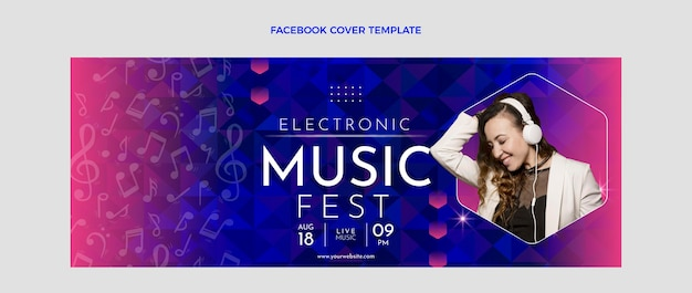 Gradient muziekfestival facebook omslag