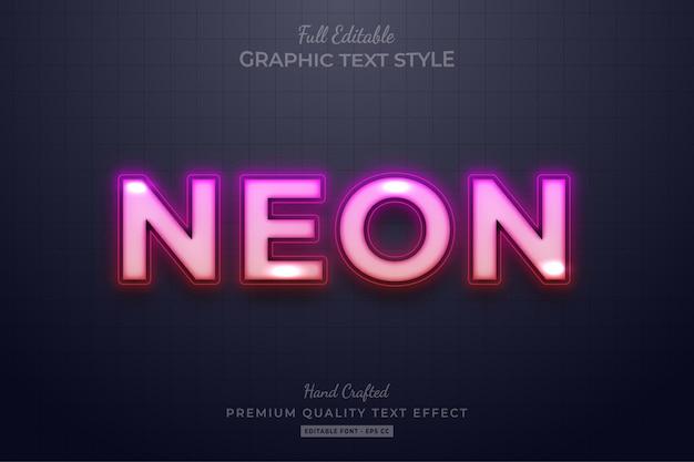 Gradient neon bewerkbaar premium tekststijleffect