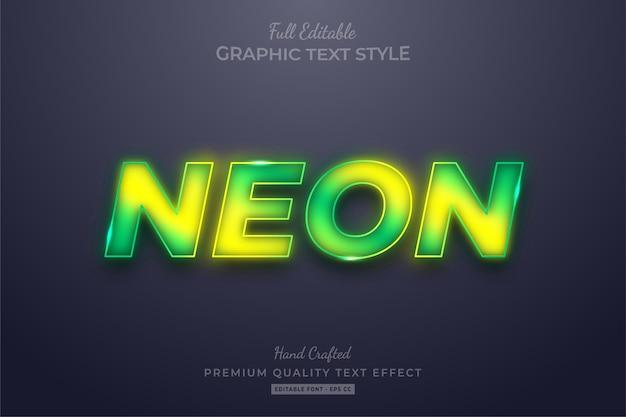 Gradient neon bewerkbare tekststijleffect premium
