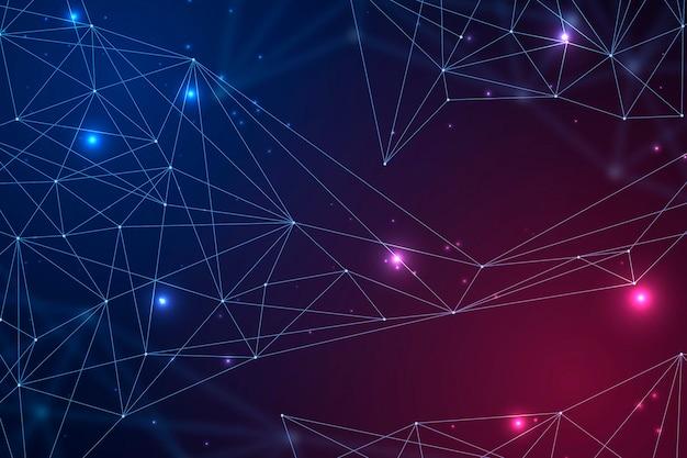Gradient netwerkverbinding achtergrond