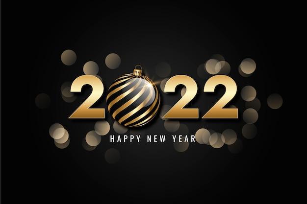 Gradiënt nieuwe jaar achtergrond met goud
