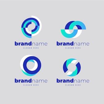 Gradient o logo's sjabloonverzameling