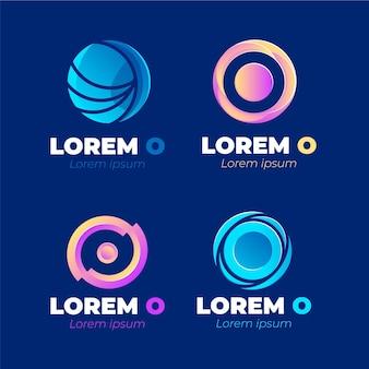 Gradient o logo sjabloonverzameling