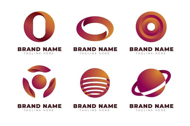 Gradient o logo templates-collectie