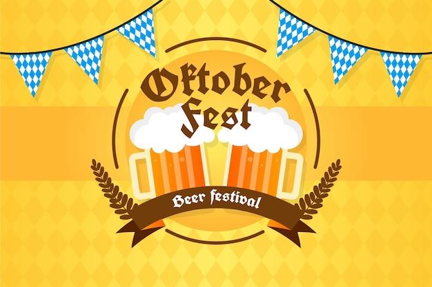 Gradiënt oktoberfest achtergrond oktober