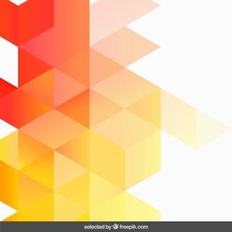 Gradiënt oranje geometrische achtergrond
