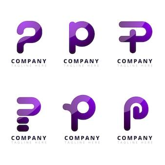 Gradient p logo collectie