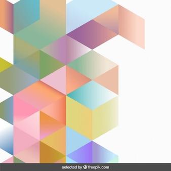 Gradiënt pastel kleuren geometrische achtergrond