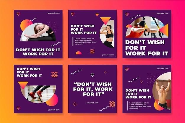 Gradiënt postpakket voor gezondheid en fitness