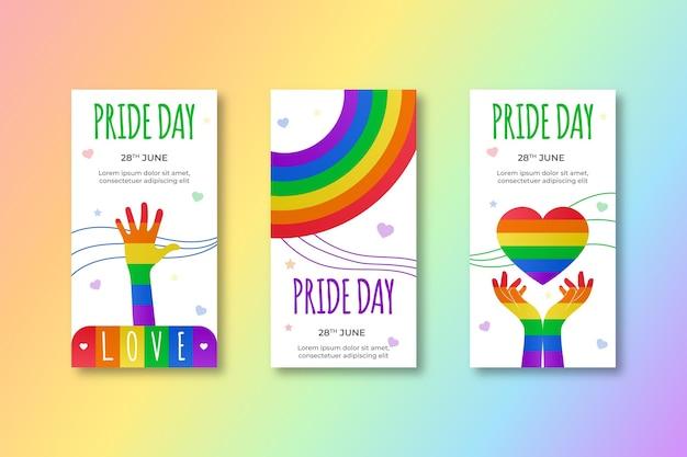 Gradient pride-dag instagram-verhalencollectie