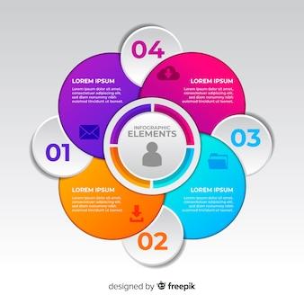 Gradiënt professionele infographic