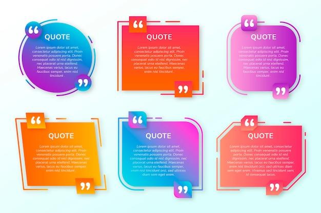 Gradient quote box frame-collectie