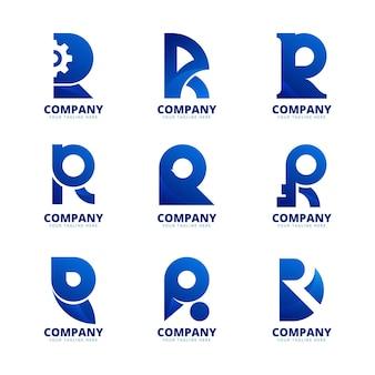 Gradient r logo-collectie