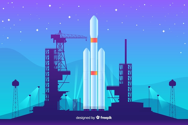 Gradient raket achtergrond