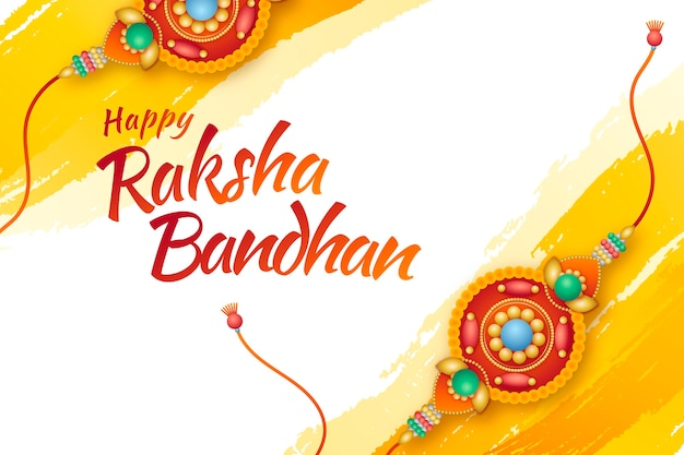 Gradiënt raksha bandhan illustratie