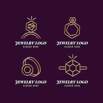Gradient ring logo sjabloonverzameling