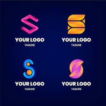 Gradient s logo sjabloonpakket
