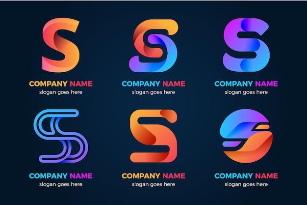 Gradient s logo sjabloonverzameling