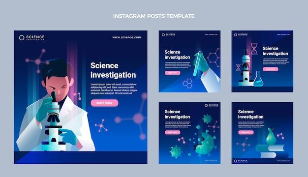 Gradient science instagram posts