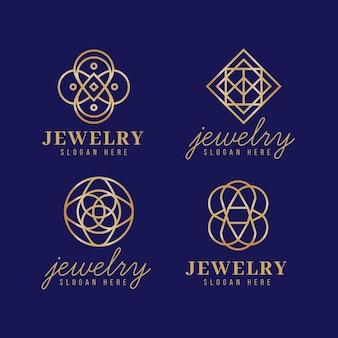 Gradient sieraden logo-collectie Gratis Vector