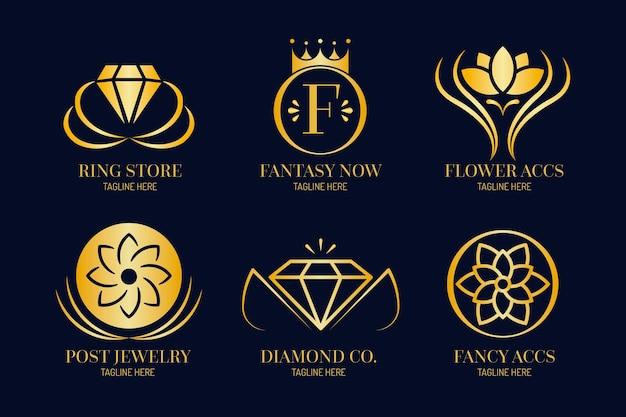 Gradient sieraden logo-collectie