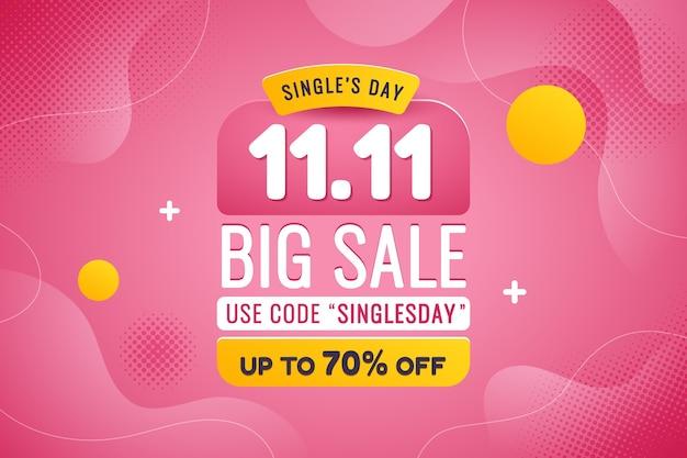 Gradient single's day verkoop achtergrond