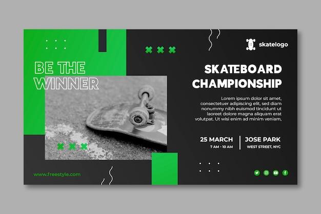 Gradient skateboarden banner