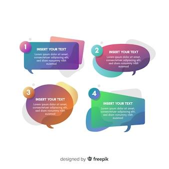 Gradient speech bubble collection design