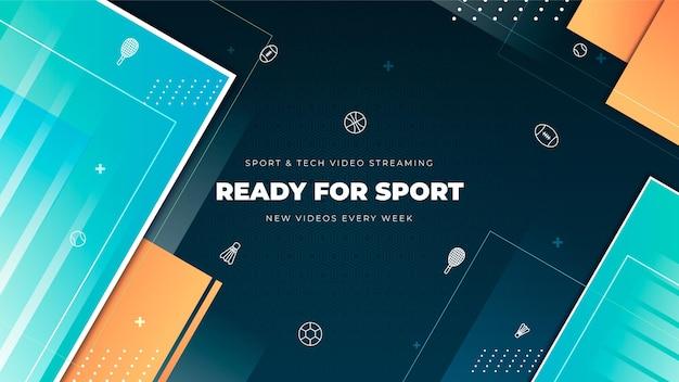 Gradient sport youtube channel art