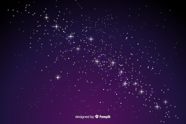 Gradiënt sterrennacht achtergrond