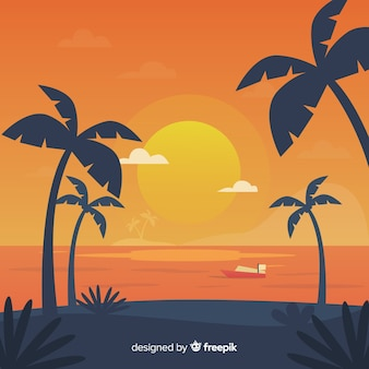 Gradiënt strand zonsondergang landschap