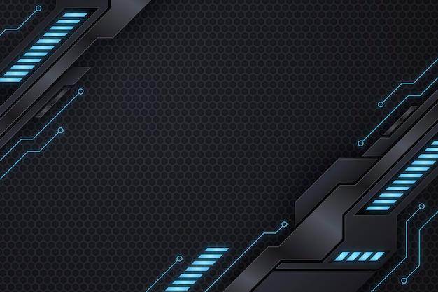 Gradiënt tech futuristische achtergrond