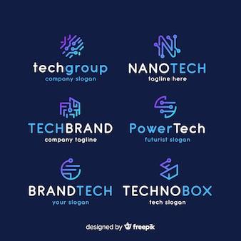 Gradient-technologie logo-collectie