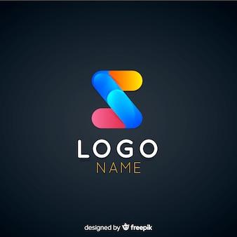 Gradient technology logo template voor bedrijven