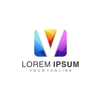 Gradient v logo