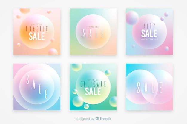 Gradient verkoop instagram posts collectie