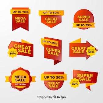 Gradiënt verkoop label collectie