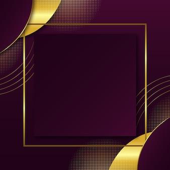 Gradiënt vierkant gouden luxe frame