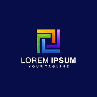 Gradiënt vierkant logo