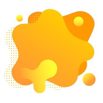 Gradiënt vloeibare vormen geïsoleerd op wit. kleurrijke oranje vlekken.